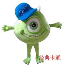 Monsters University Mascot Costume Big Eye Sulley Halloween Party Cosplay Free Shipping