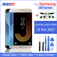 Para Samsung Galaxy LCD J5 2017 J530 SM J530F J530M pantalla LCD MONTAJE DE digitalizador con pantalla táctil Ajuste de brillo + adhesivo