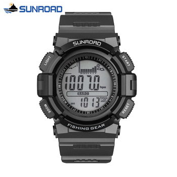 SUNROAD Waterproof Man Digital Watch Barometer Altimeter Thermometer Stopwatch Sport Military Clock Men saat Relogio Masculino sunroad fishing barometer watch fr720a men altimeter thermometer weather forecast 50m waterproof stopwatch smart watch black