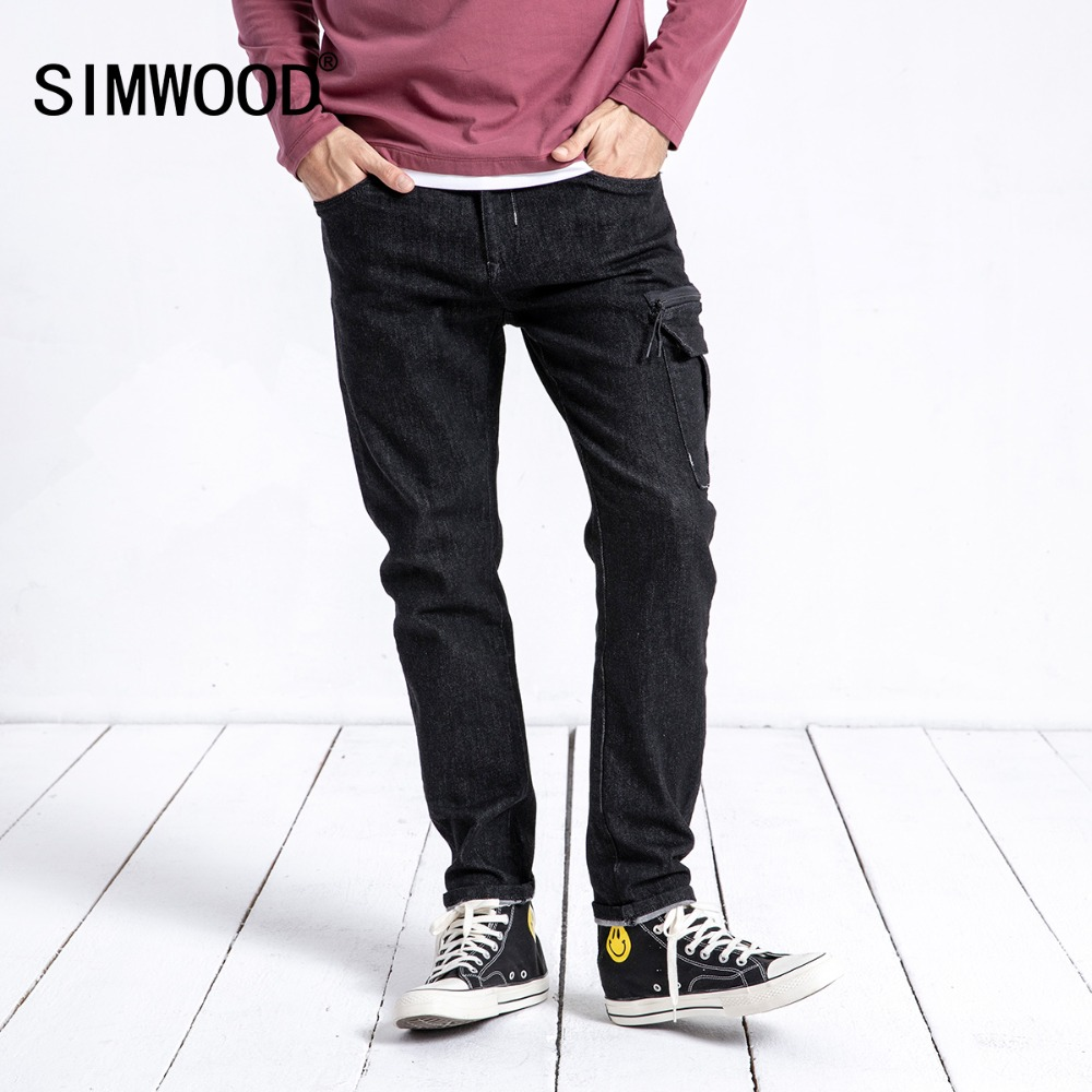 SIMWOOD New Arrive Autumn Jeans Men Fashion Slim Fit Cotton Denim Pants Trousers Streetwear Brand Clothes Free Shipping 180601