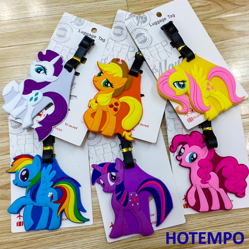 Unicorn Pony Action Figure Soft PVC Luggage Pendant Toys Keychains Tag