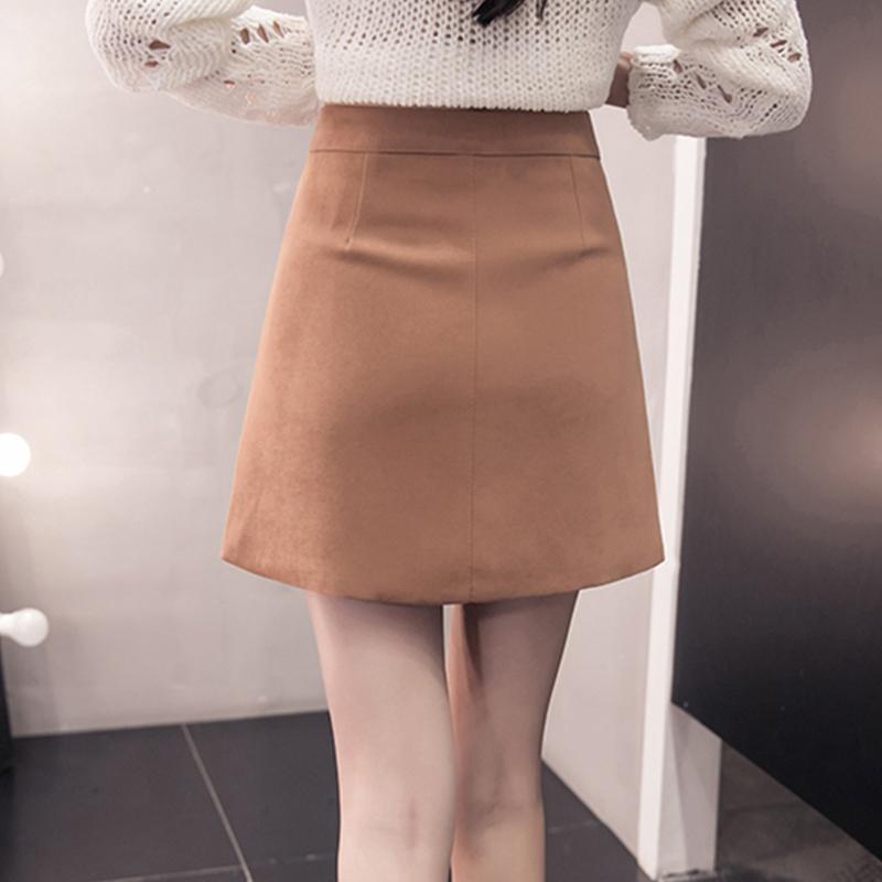 HTB1f0HuatXXWeJjSZFvq6y6lpXaN - Suede Skirt Fashion High Waist Zippers JKP343
