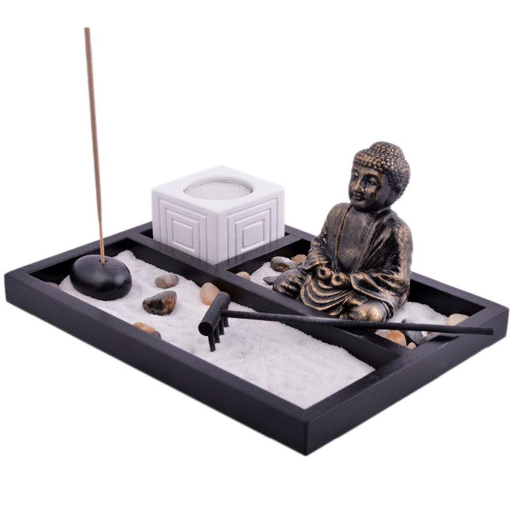 Feng Shui Κήπος άμμου Βούδας κέλυφος Tealight - Διακόσμηση σπιτιού - Φωτογραφία 4