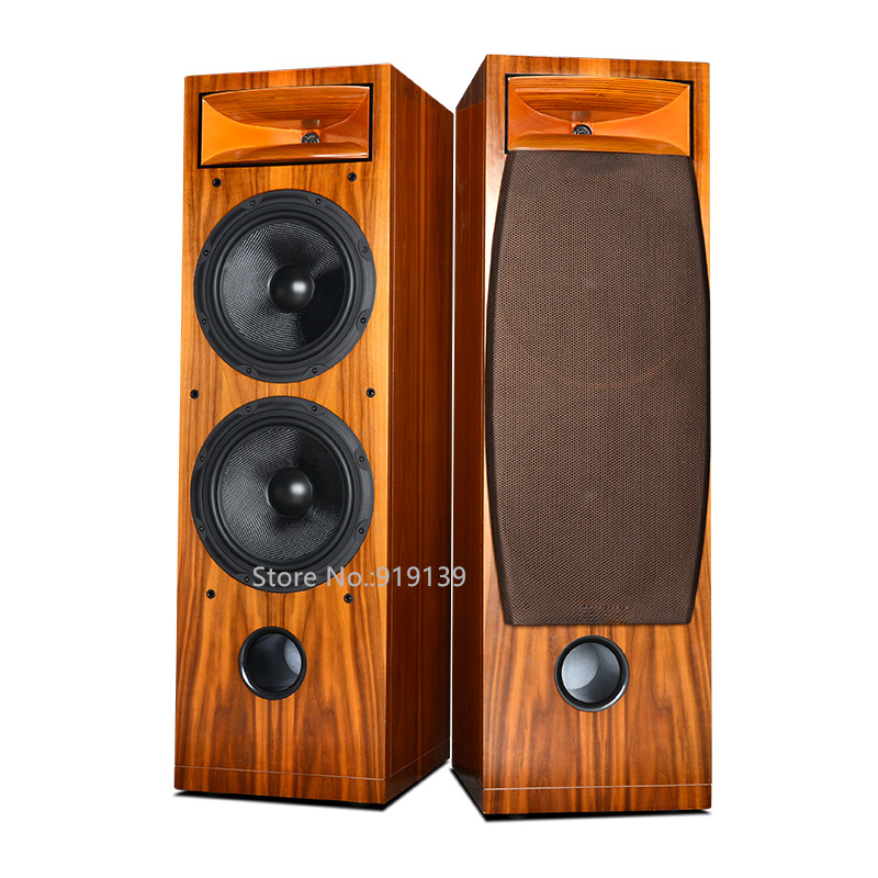 Top Quality Home Theater System Wooden Main Speaker Floor Stand Hifi Sound Dual 10inch Woofer For Cinema Living Room wood