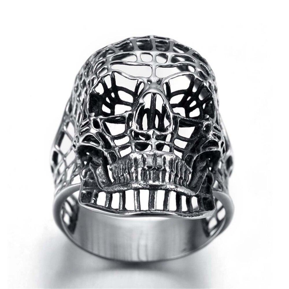 แหวนโคตรเท่ห์ Code 014 แหวนวินเทจกะโหลกถัก สแตนเลส 3