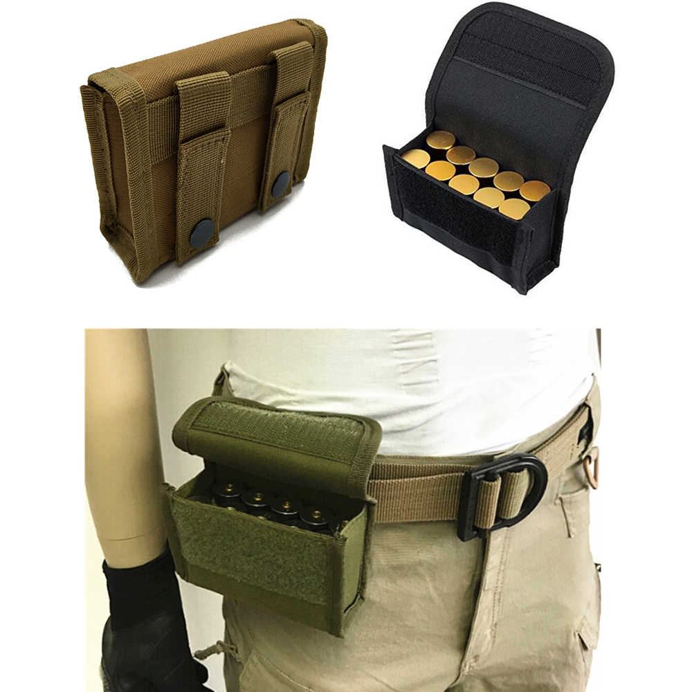 Tactical 10 Round Shotshell Reload Holder Molle Pouch For 12 Gauge/20G Magazine Pouch Ammo Round Cartridge Holder New