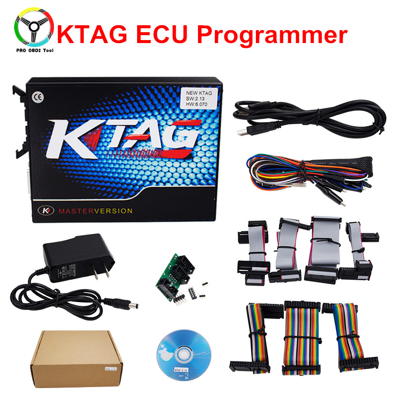 2017 New Car-Detector KTAG V2.13 Master Version K TAG Firmware V6.070 ECU Programming Tool No Tokens Limited for Car Diagnostic