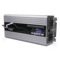 4000 Вт Чистая синусоида автомобилей Мощность инвертор 12 В постоянного тока до 220 В Авто AC Зарядное устройство для дома ноутбука телефон лагер