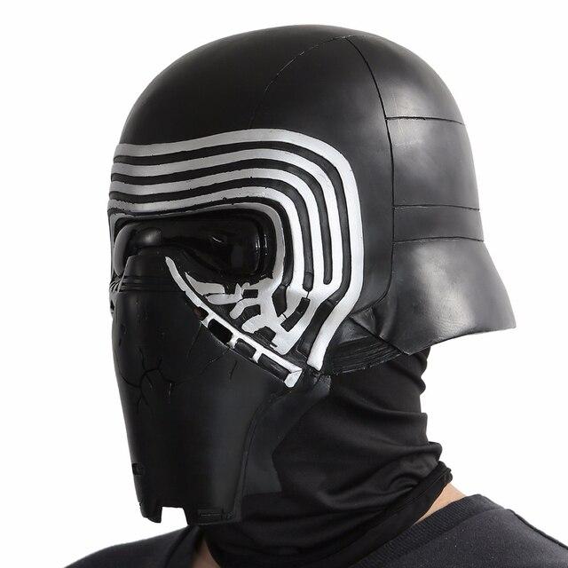 X-COSTUME Star Wars 7 The Force Awakens Kylo Ren Helmet Cosplay Props Cool PVC Full Head Helmet Black Mask Halloween Accessories 2