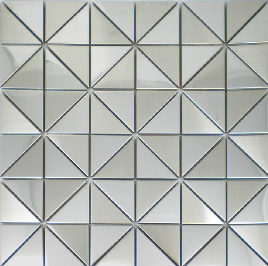 New mosaics stainless steel tile silver decorative kitchen ...