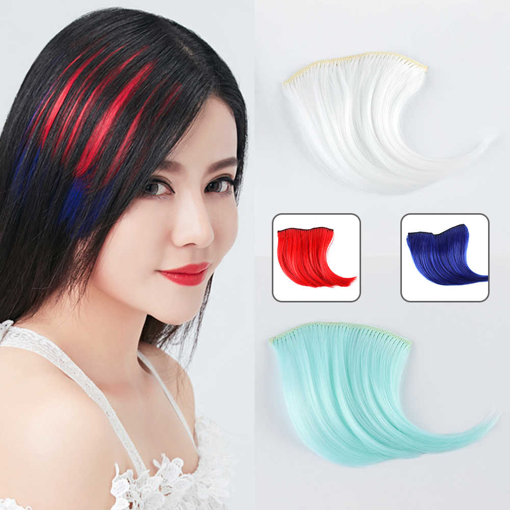 Colorful Thin Fake Fringe Clip In Bangs Wigs Hair Extensions With Synthetic  Fiber Hair Pieces Hair fe2eda0c9aab