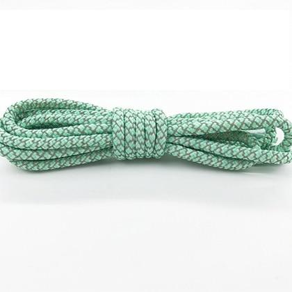 Leyou 100-160cm люминесцентная лампа кроссовки шнурки спортивные шнурки 3м Reflective круглые веревочные шнурки светлые шнурки Led - Цвет: Pale green