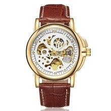 Luxury Gold Automatic Mechanical reloj hombre 2018 Watch Waterproof Leather Band Men Wristwatches Clock цена 2017