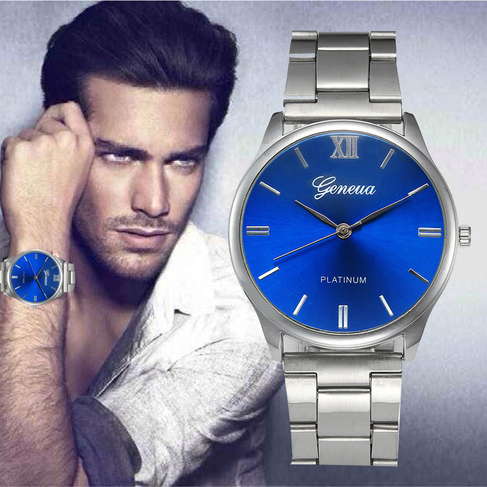 Men's Watches Fashion Men Crystal Stainless Steel Analog Quartz Wrist Watch relogio masculino relojes hombre 2018 relojes full stainless steel men s sprot watch black and white face vx42 movement