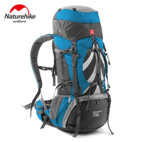 Naturehike Big Capacity 70L Sports Bag Professional Mountaineering Hiking Waterproof Outdoor Mountain Backpacks NH70B070 B