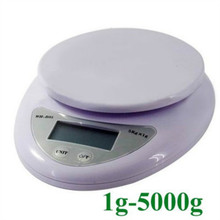 Digital Scale 5KG / 1G Household Kitchen Cooking Food Diet Grams OZ LB 5000g Electronic Bench Balance Weighing Scales