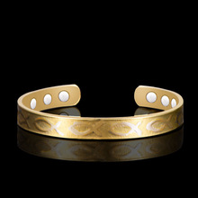 HOMOD Double Gold Color Fish Pattern health Magnet  Bracelets Dubai Bangles Healing Magnetic Bracelet for women