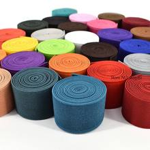 30MM High Quality Rubber Bands Colour Elastic Tape Double-Sided Thickening Elastic Belt For Clothing Sewing Accessories 28 Color