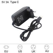 Raspberry Pi 4 USB Тип C Адаптер питания USB C Зарядное устройство 100-240 В ЕС США ВЕЛИКОБРИТАНИЯ