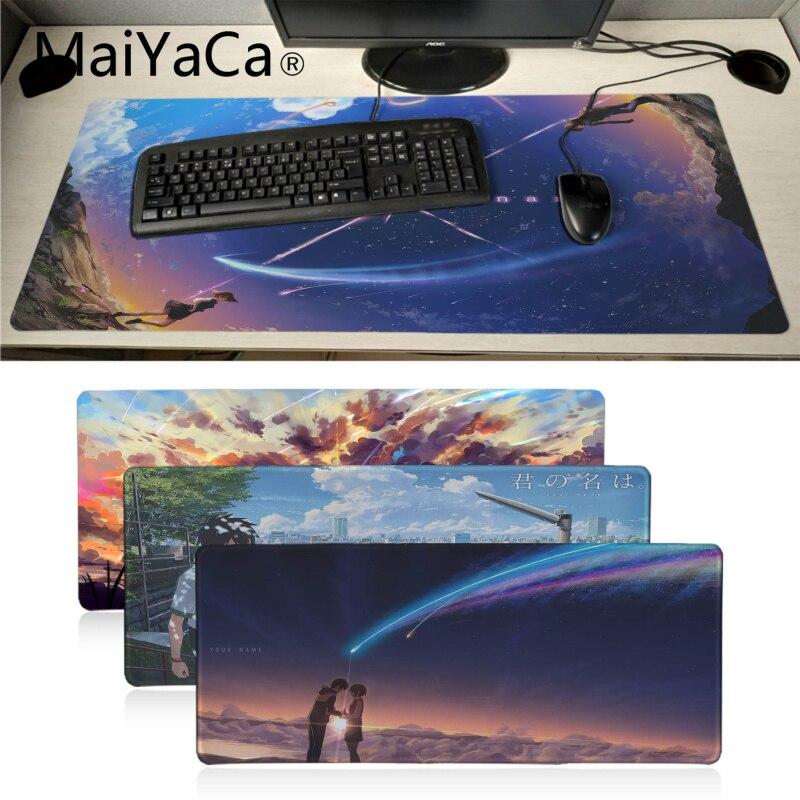 MaiYaCa Animation Movie Your Name Kimi No Na Wa Mouse Pad Gamer Play Mats Anti-slip Locking Desk Mat Gaming Mouse Pad For Dota2