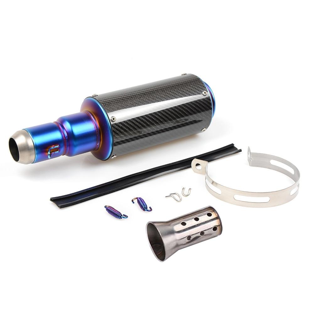38MM - 51MM Carbon Fiber Modified Motorcycle Exhaust Pipe Muffler TTR YBR YZF RSZ CBR CB400 CF250 CBR600 CBR250 ER6N ER6R YZF600
