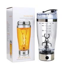 450 ml/16 Unze Automatische wasserflasche kaffee saft mixer elektrische shaker bpa frei entsafter watercup mit skala tragbaren mixer