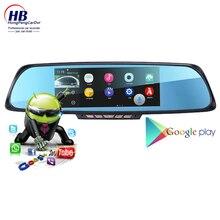 7″Touch RAM 1GB ROM 16GB 2 Split View smart voice recording HD Dual Lens car camear rear parking GPS navigation WiFi FM Transmit