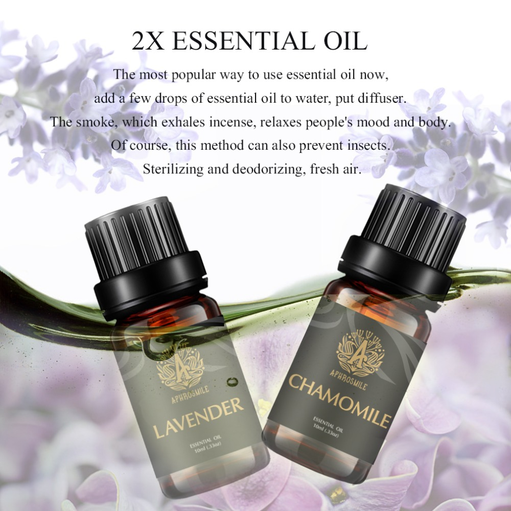 Water-soluble Lavender Essential Oil and Chamomile Oil Pure Natural Fresh Plant Aroma Oil Mildly Skin Care Oil Body Massage Oil