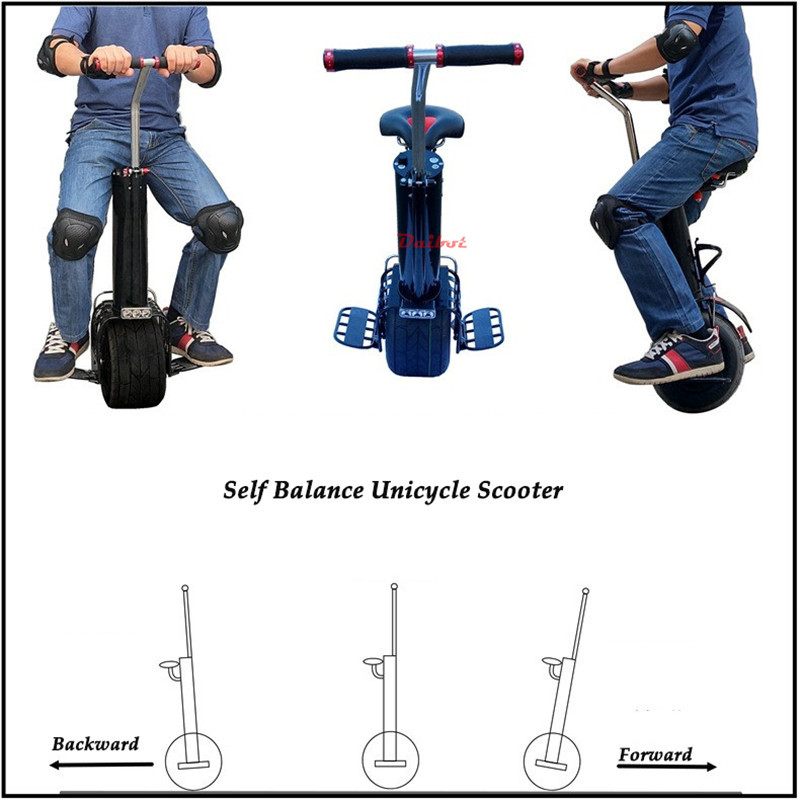 Daibot Monowheel Electric Unicycle One Wheel Self Balancing Scooters 60V 500W Electric Scooter With Seat For Adults 5