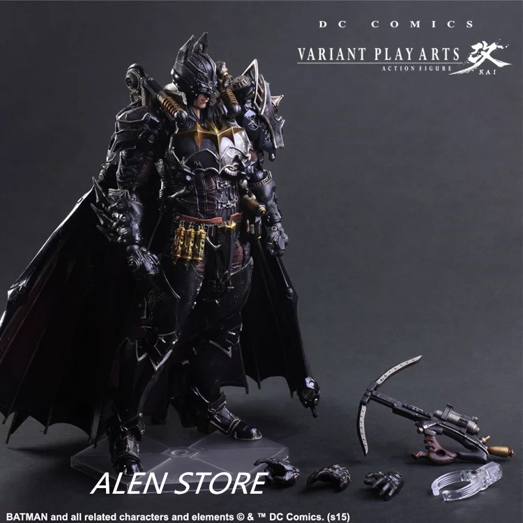 ALEN Action Figure Steampunk Play Arts Kai Steampunk PVC 27cm VARIANT PLAY ARTS Batman Punk Playarts Kai Collectible doll gogues gallery two face batman figure batman play arts kai play art kai pvc action figure bat man bruce wayne 26cm doll toy