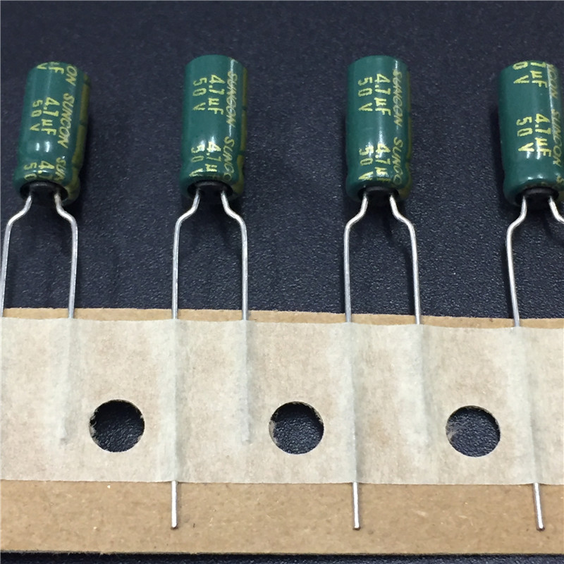 10pcs 4.7uF 50V SUNCON(SANYO) AX Series 5x11mm 50V4.7uF Low Impedance Long Life Electrolytic Capacitor