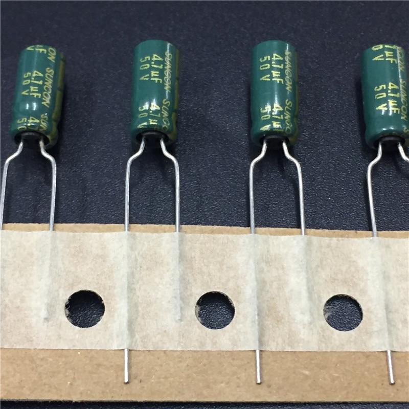 10pcs 4.7uF 50V SUNCON(SANYO) AX Series 5x11mm 50V4.7uF Low Impedance Long Life Electrolytic Capacitor