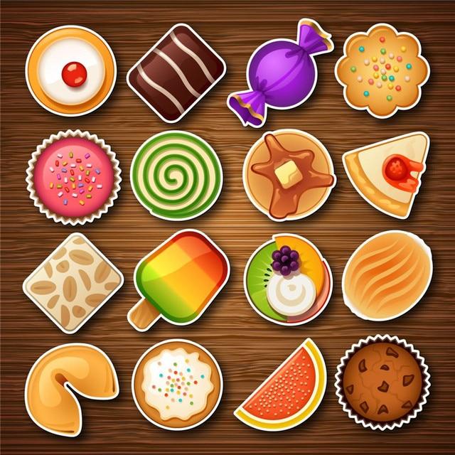 16 Pcs Adorável Biscoitos Ímãs Adesivo Luminoso Sobremesas Ímãs Adesivos de Parede Geladeira Adesivos De Decoração Da Cozinha Suprimentos 6ZDZ209