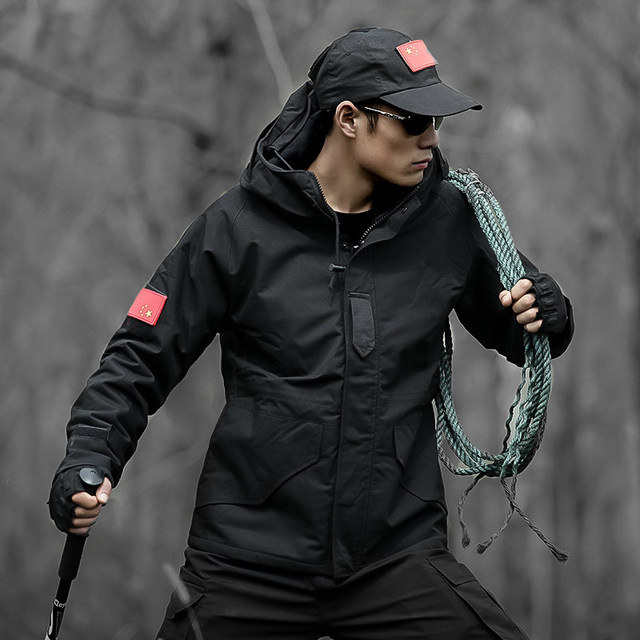 Tactical Bomber Jacket Mens Black Winter Jacket Men Military