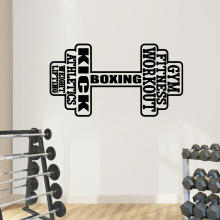 NEW gym Stickers Home Decoration Nordic Style Pvc Wall Decals Diy Accessories