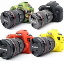 Хороший Sofe силиконовый резиновый защитный чехол для камеры чехол для Canon 6D камера сумка камуфляж черный