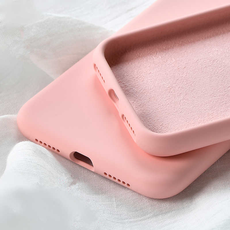 Phone Cases For iPhone 7 8 6 6s Plus Liquid Silicone Original Soft TPU Capa Fundas Cover For iPhone XS Max XR X Case Shockproof