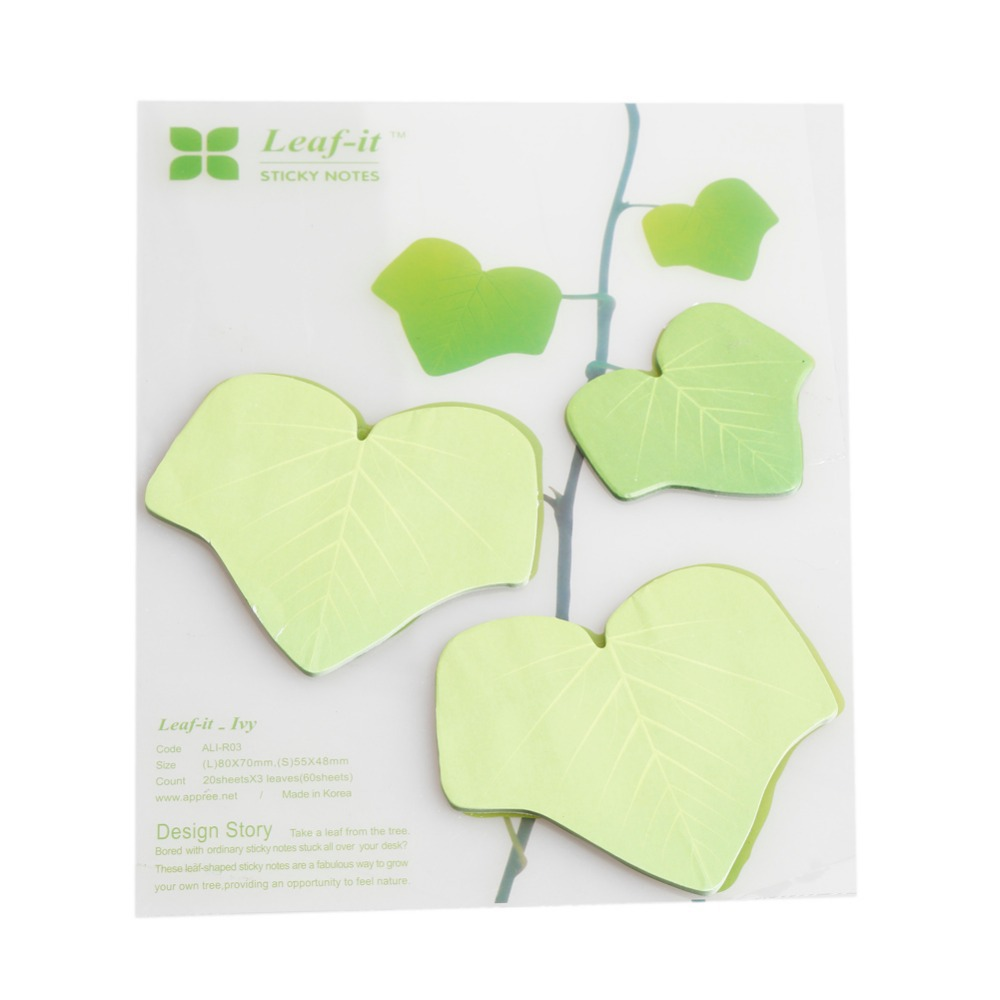 aliexpress com buy 2015 personality leaves sticky post bookmark aliexpress com buy 2015 personality leaves sticky post bookmark memo flags stickrs notes wall sticker paper green leaves design home decor oss 0200 from
