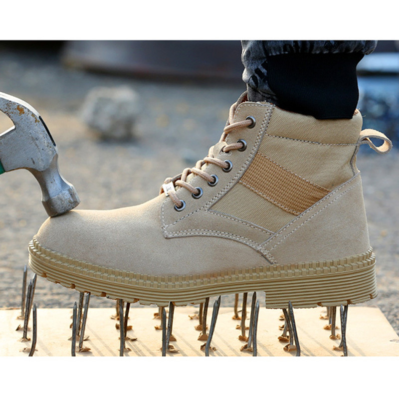 Fashion Men Desert Tactical Military Boots Mens Work Safty Shoes Army Boots Winter Zapatos Lace-up Steel Toe Combat Ankle Boots