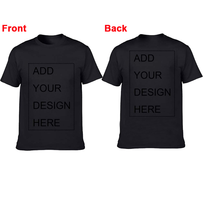 Customized Front And Back Mens T Shirt Print Your Own Design High Quality Breathable Cotton T-Shirt For Men Plus Size XS-3XL