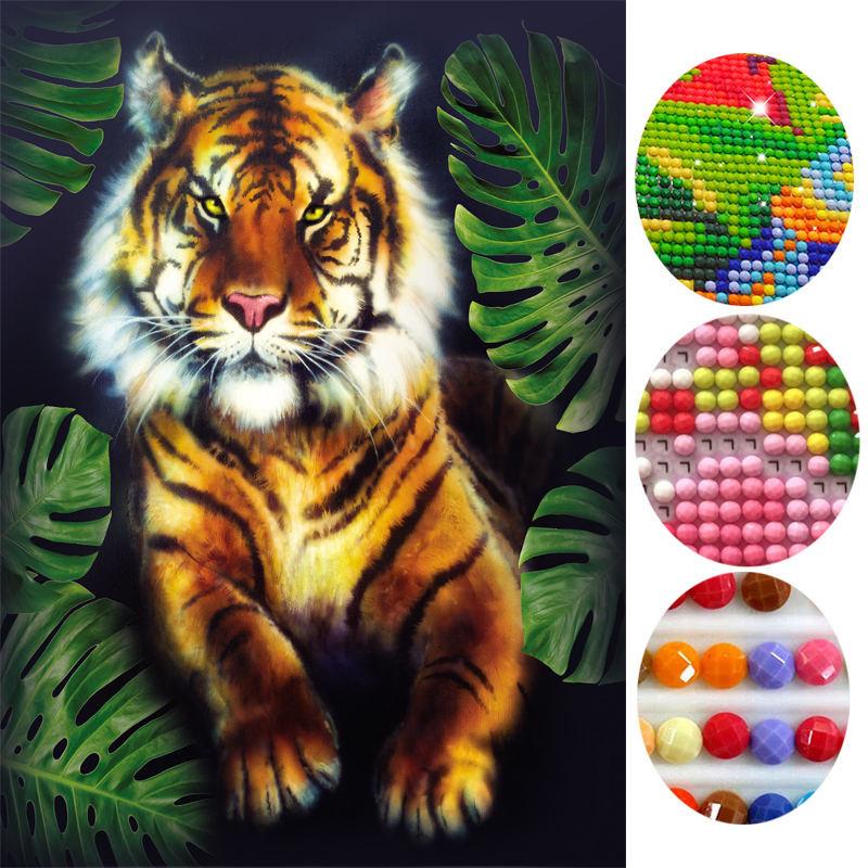 2016 Diy Diamond Painting 3d Diamond Embroidery Tiger Pictures Of Rhinestones Kits For Cross Stitch Handmade Home Decor Asf244 Home & Garden