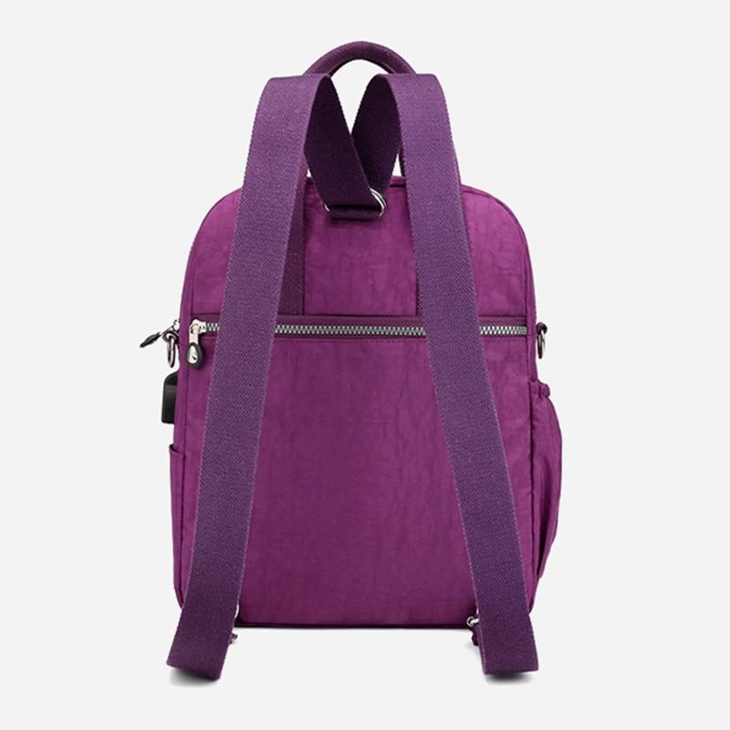Image 4 - New Women Backpack Multifunction Waterproof Nylon Lady Women Backpacks Female Casual Travel bag Bags mochila feminina u s b-in Backpacks from Luggage & Bags