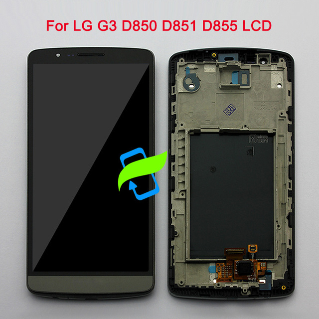 "5.5"" Original Dsiplay Screen For LG G3 D850 LCD Touch Screen Digitizer Assembly with Frame For LG G3 Display D850 D851 D855 LCD"