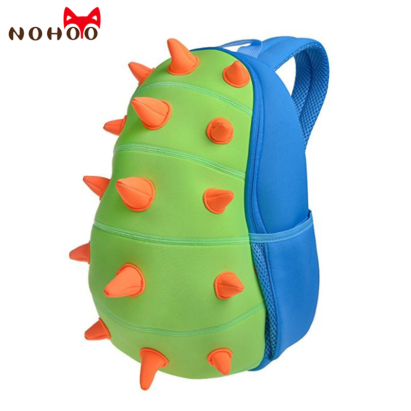 NOHOO Animals Waterproof Kids Baby Bags Kindergarten Neoprene Dinosaur Children School Bags For Girls Boys Cartoon School Bags new children cartoon bags cute elephant mini handbag for girls boys pure cotton animals kids baby bags handmade a limited