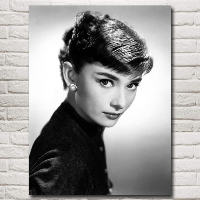 Audrey Hepburn Hollywood Classic Movie Figures Art Silk Poster Prints Home Decor Painting 12x16 18x24 24x32