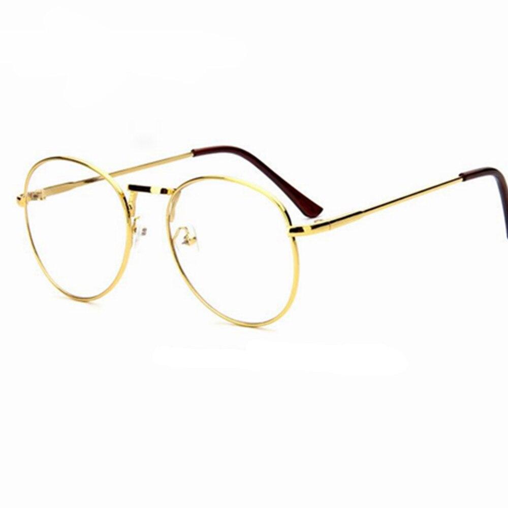 mejor servicio 437c0 24925 Monturas de lentes transparentes retro para hombre, para hombre, ovaladas,  pequeñas gafas redondas para mujer, de metal dorado