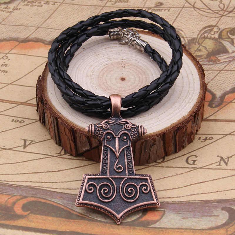 Norse Vikings Amulet Raven młot thora naszyjniki