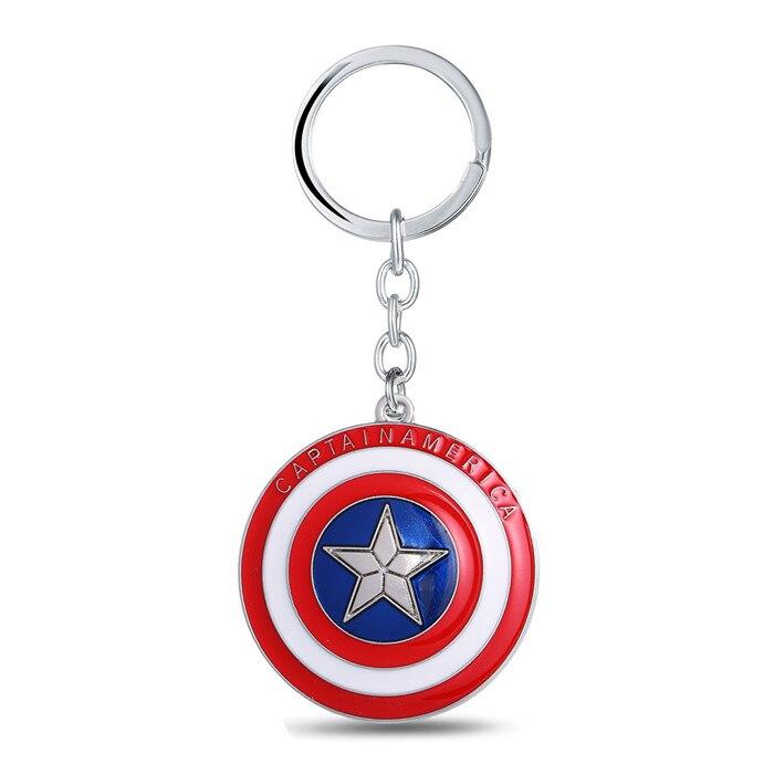 Superhero Alloy Captain America Key Chain Keyring Bags Pendant Cartoon Gifts