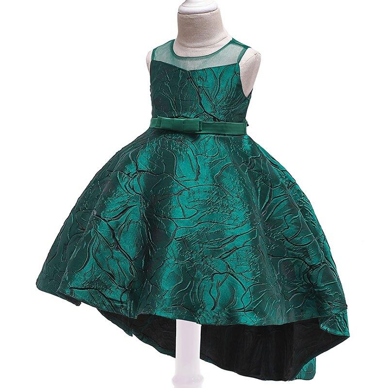 High Quality Trailing Girl Wedding Dress Children's Pageant Dress First Communion Dresses Kids Child Fluffy Dress Baby Costume