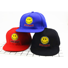 Fashion Classic Style Children Baseball Caps Leisure Kids Snapback Hat Boys And Girls Smile Face Freely Adjustable